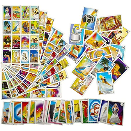 """NEW Mexican Loteria Bingo Bottle Dispenser deck of 54 Cards 1-1//4"""""""