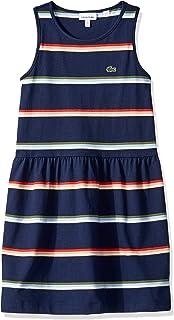 Lacoste Girl Sleeveless Jersey Striped Dress