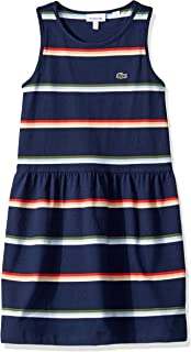 Lacoste Girl Sleeveless Jersey Striped Dress