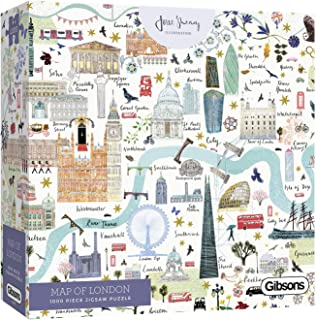 Map of London 1000 Piece Jigsaw Puzzle   Sustainable Puzzle for Adults   Premium 100% Recycled Board   Great Gift for Adul...