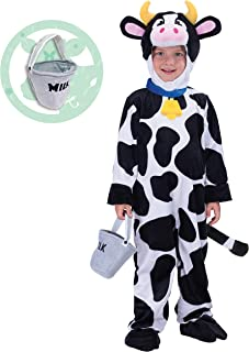 Lovely Cow Costume Deluxe Set for Kids Halloween Farm Dress Up Party, Role Play and Cosplay