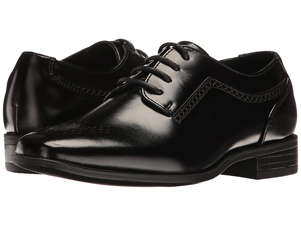 Stacy Adams Kids Somerton Plain Toe Oxford (Little Kid/Big Kid) (Black) Boys Shoes