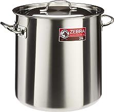 Zebra Stainless Steel Stock Pot, 36cm