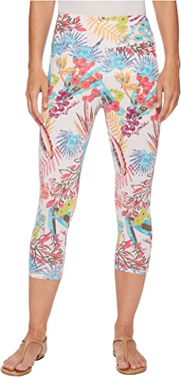 Bright Botanical Oceanside Capri Leggings