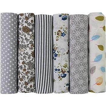 7Pcs Baumwolle Tuch Stoff Baumwolle Floral DIY-Nähen Patchwork Stoffpakete FL