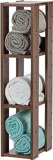 Marque Amazon - Movian 531474 Etagère 3 casiers/Meuble de rangement 3 étages en bois, Wood, Chêne Brun, L20 cm