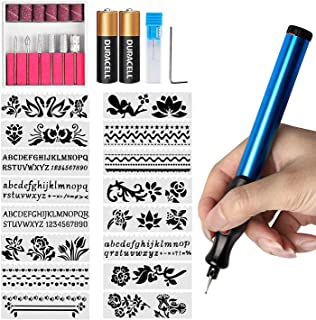 DIY Engraver Pen Electric Engraver Engraving Tools for Jewellery Making,Metal, Glass with Replaceable Diamond Tip Bits