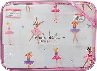 Nicole Miller Home Kids Dancing Ballerina Cotton 3 Piece Twin Sheet Set