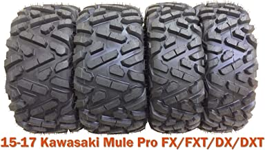 26x9-12 & 26x11-12 Full Set ATV Tires for 15-17 Kawasaki Mule Pro FX/FXT/DX/DXT