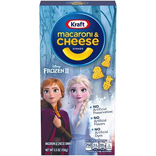 Kraft Frozen II Shapes Macaroni and Cheese Meal (5.5 oz Boxes, Pack of 12)