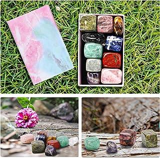 ORNOOU Chakra Stones Healing Crystals Set of 10 - Chakras Balancing, Crystal Therapy, Meditation, Reiki - Chakra Set with Gift Box