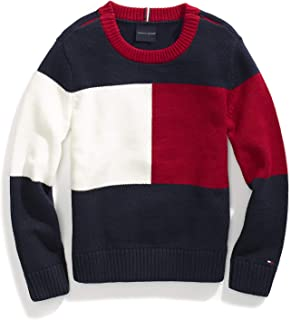 Tommy Hilfiger Boys' Adaptive Sweater with Adjustable Shoulder Closure