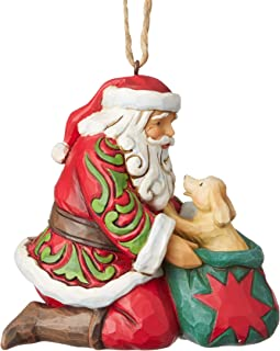 Enesco Jim Shore Heartwood Creek Santa with Puppy Ornament