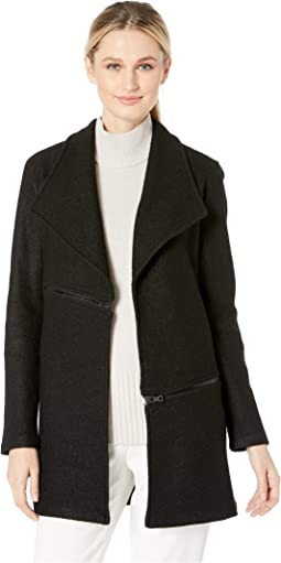 Wing Collar Cardi Jacket w/ Zips