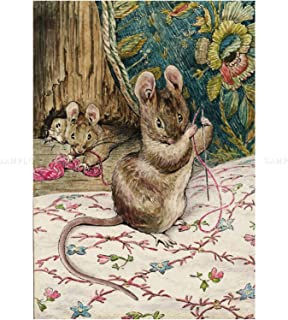 Helen Beatrix Potter The Mice At Work Threading Needle Wall Art Print