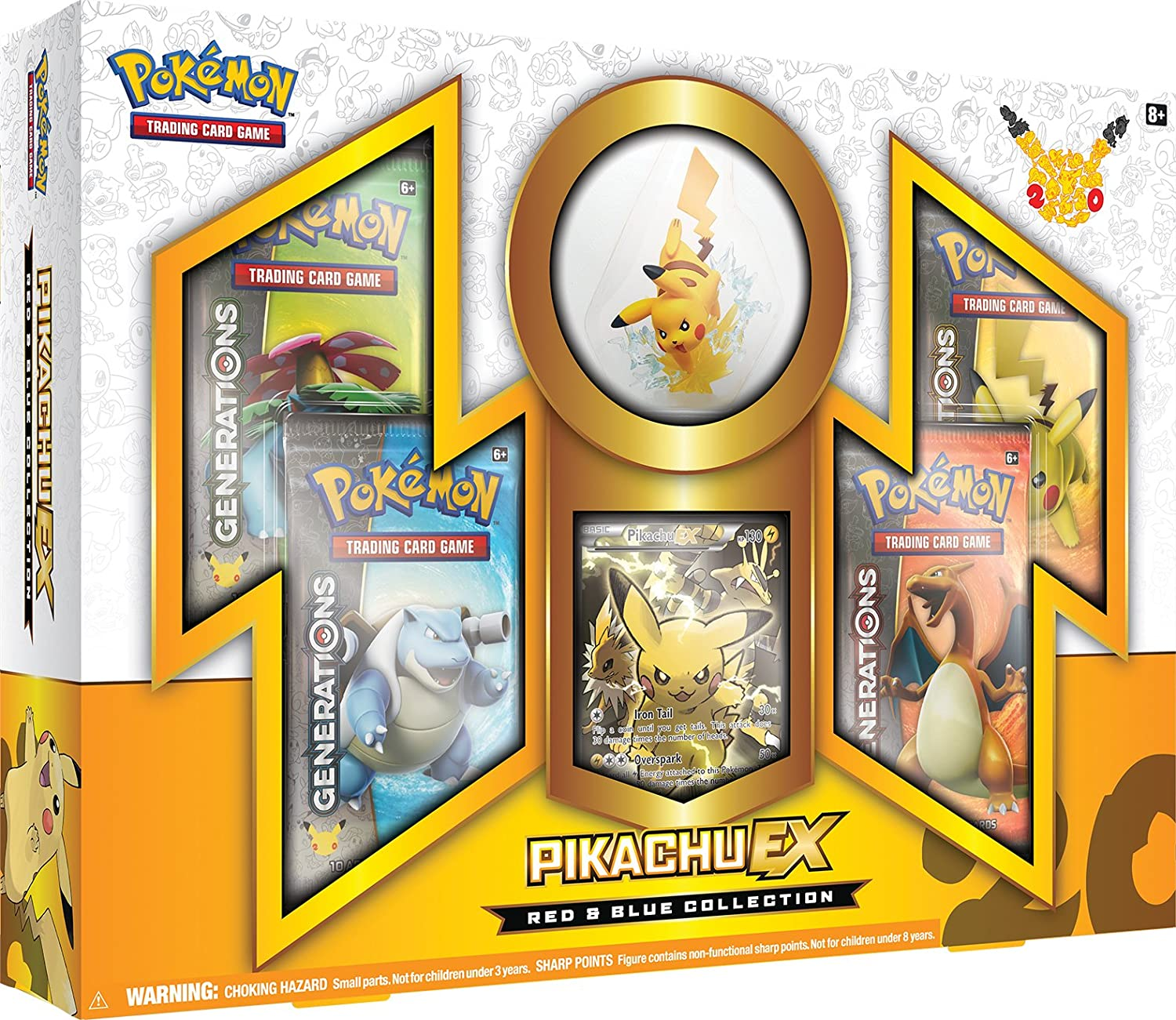 TCG  Collection PikachuEX Card Game, Red bluee