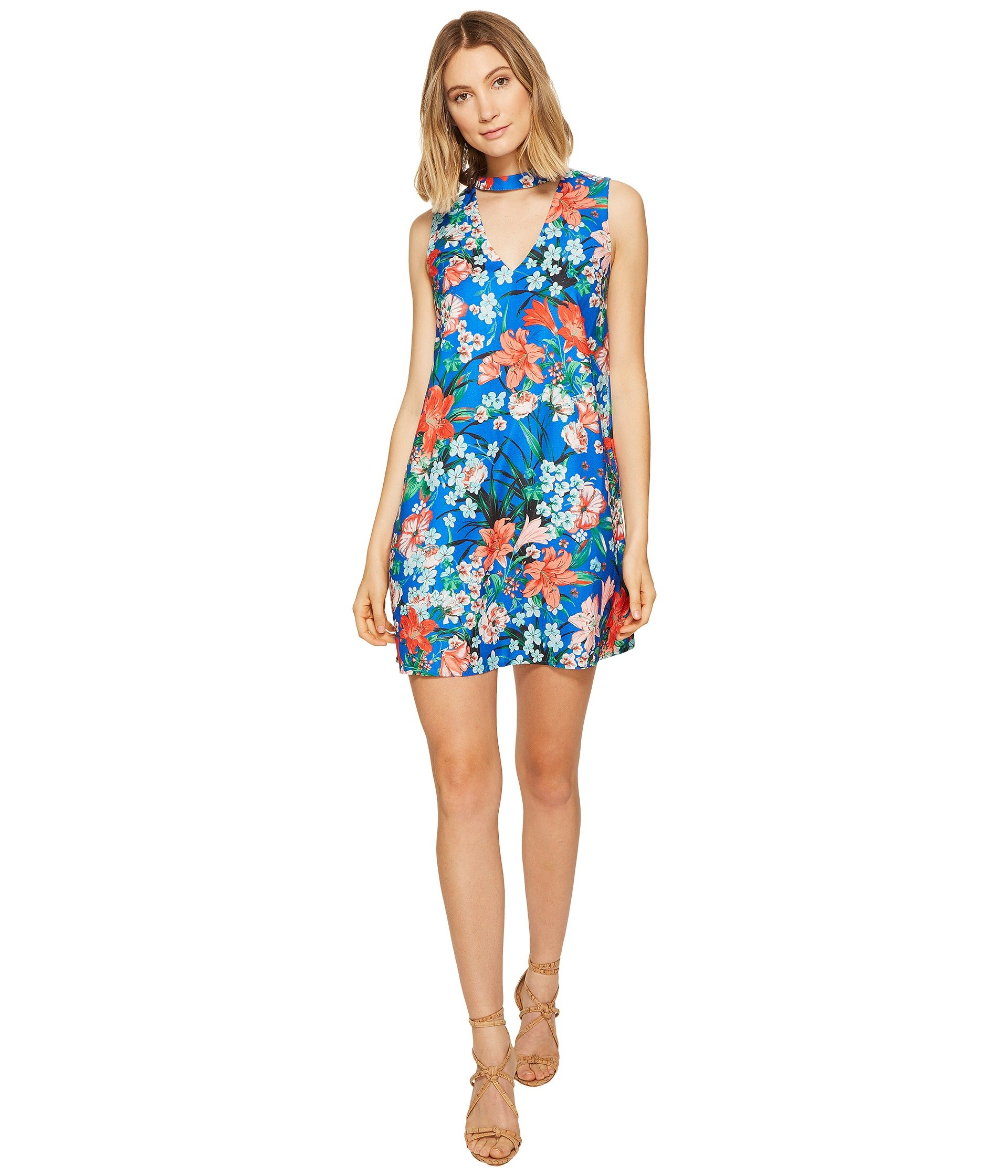 Vestido para Mujer XOXO Printed Sleeveless Choker Dress  + XOXO en VeoyCompro.net