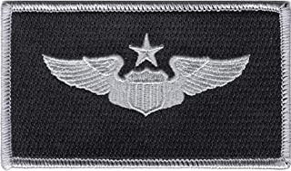 Senior Pilot Wings Patch Black And Silver