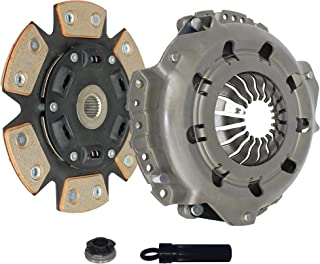 Clutch Kit Works With Saturn SC1 SC2 SL SL1 SL2 SW2 Base Coupe Sedan Wagon 2000-2002 1.9L 116Cu. In. l4 GAS SOHC Naturally Aspirated (6-Puck Clutch Disc Stage 2)