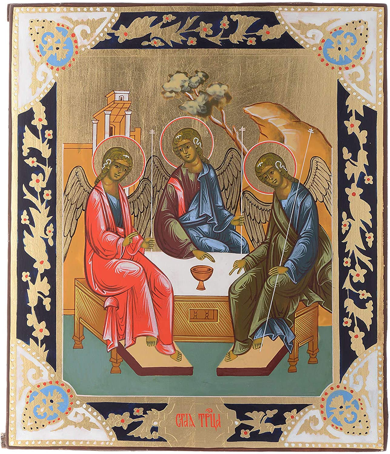 Bombing free shipping Cheap SALE Start Russian icon Holy Painting Trinity Panel