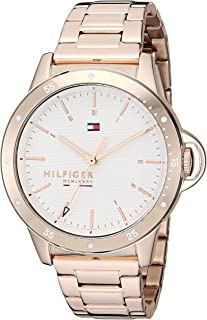 Tommy Hilfiger 1782024 Womens Quartz Watch, Analog Display and Stainless Steel Strap, White