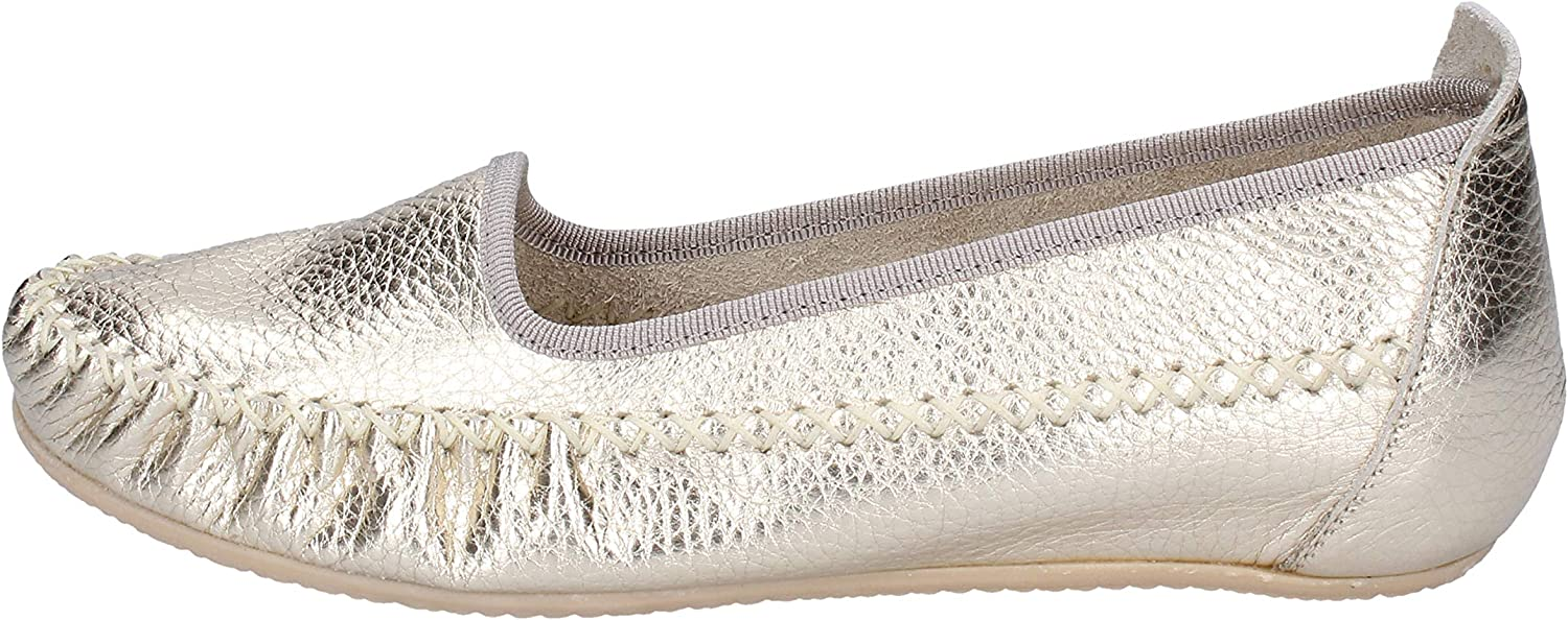 SUSIMODA Loafers-shoes Womens Leather Silver