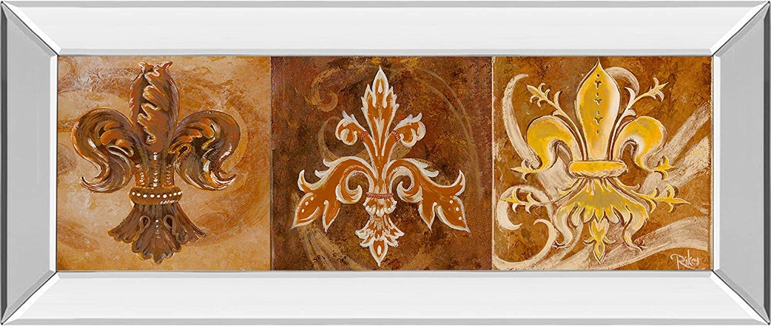 70% OFF Outlet Contemporary Home Living Fleur De Lis Frame Trio Wall Inventory cleanup selling sale ll Mirror