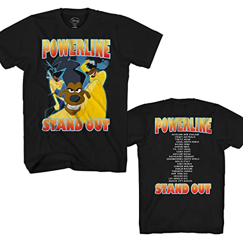 66942bfd403 Disney Goofy Movie Powerline Stand Out Tour Mens T-Shirt