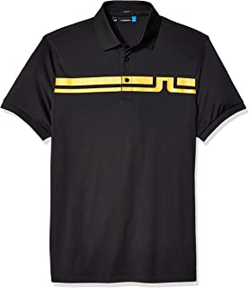 J.Lindeberg Men's Striped Logo Polo Shirt