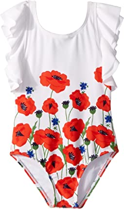 Poppy Border Print One-Piece Swimsuit (Toddler/Little Kids/Big Kids)