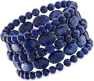 Ross-Simons Lapis Jewelry Set: 5 Bead Stretch Bracelets For Women
