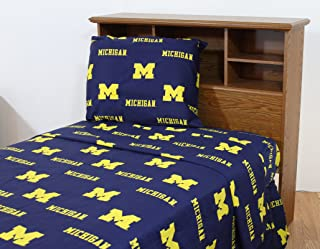 College Covers Michigan Wolverines Sheet Set, Full, Team Colors