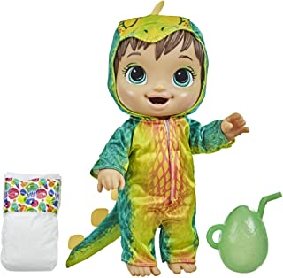 Baby Alive Dino Cuties Doll, Stegosaurus, Doll Accessories, Drinks, Wets, Stegosaurus Dinosaur Toy for Kids Ages 3 Years a...