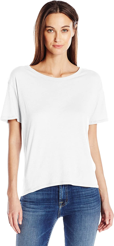 Enza Costa Womens Tissue Cotton Short Sleeve Boy Tee TShirt