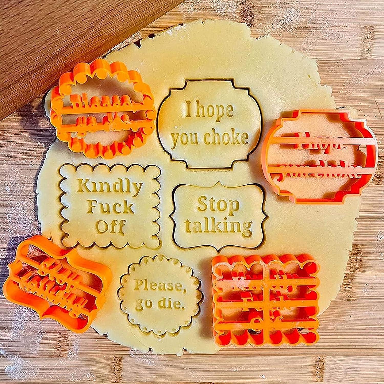 AUGEST 4Pcs Cookie Excellent Molds with Form Fun Good Wishes Sale SALE% OFF a