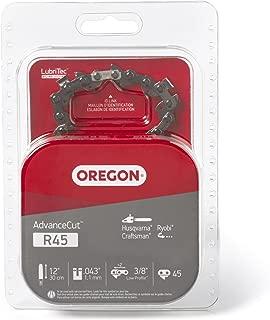 Oregon R45 AdvanceCut 12-Inch Chainsaw Chain, Fits Craftsman, Husqvarna, Ryobi, Black & Decker