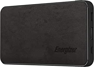 10000 mAh Rapid Charging Premium Fabric Power Bank, USB-C and USB-A Outputs, USB-C and micro-USB Inputs, Black