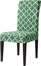 subrtex Printed Dining Chair Slipcovers Stretch Removable Washable Elastic Parsons Chair Seat Covers for Dining Room Kitch...