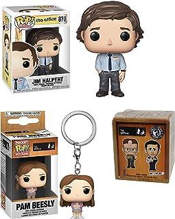 هل يأخذ أي شخص هذه الوظيفة بجدية؟ مكتب فانكو بوب! الحزمة: Jim Halpert 870 + Pocket Pop! ميدالية مفاتيح بام بيزلي + صندوق أ...