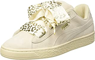 Puma Girl's Suede Heart Athluxe Jr Whisper White-PUM Sneakers