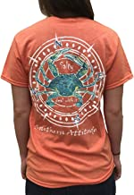 Southern Attitude Salty Deal with It Crab Sunset Orange Short Sleeve T-Shirt