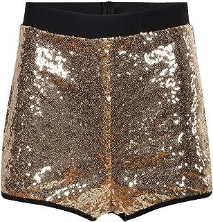 Womens Sparkle Sequin Booty High Waist Club Sexy Shorts