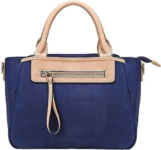 KKXIU Women Handle Handbags Shoulder Lightweight Pockets Zipper Purse Satchel Crossbody Nylon Bags
