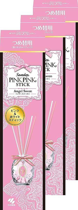 ピクニックパンツサポート【まとめ買い】サワデー ピンクピンクスティック 消臭芳香剤 詰替え用 エンジェルシャボン 70ml×3個