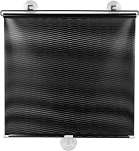 Wakauto Blackout Blind Suction Cup Curtain, Suction Cup Sunshade Blackout Curtain Temporary Windows Blinds Portable Lightweight Drape for Home Office Car (50x125cm)