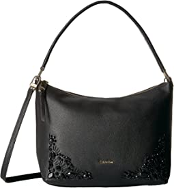 Calvin Klein - Pebble Vertical Front Zip Embellished Crossbody