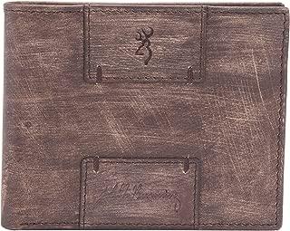 Browning Heritage Bi-Fold Wallet   Brown Woodgrain