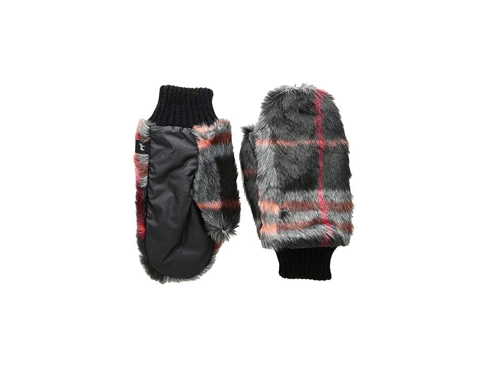 Echo Design Snow Drift Mittens (Black Multi) Extreme Cold Weather Gloves