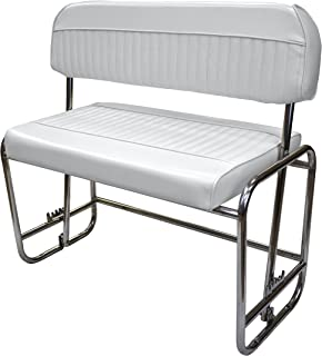 Wise 8WD155P-784 Stainless Steel Swingback Seat, Cuddy Brite White