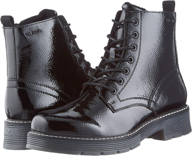 TOM TAILOR Women's Bootie Mid Calf Boot, Black, 6.5 us